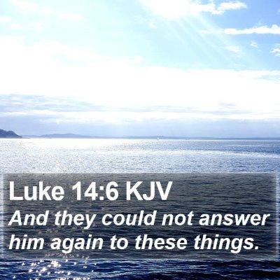 Luke 14:6 KJV Bible Verse Image