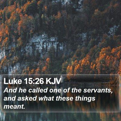 Luke 15:26 KJV Bible Verse Image