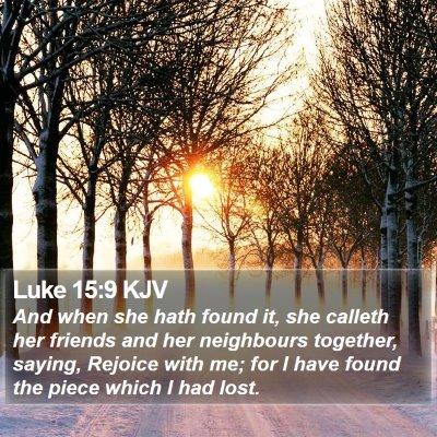 Luke 15:9 KJV Bible Verse Image