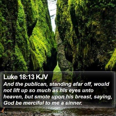 Luke 18:13 KJV Bible Verse Image
