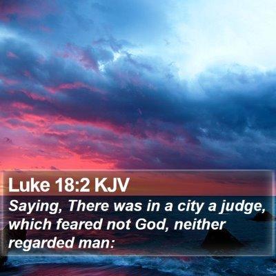 Luke 18:2 KJV Bible Verse Image
