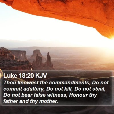 Luke 18:20 KJV Bible Verse Image