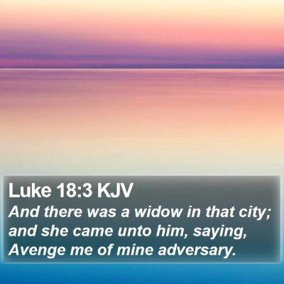 Luke 18:3 KJV Bible Verse Image
