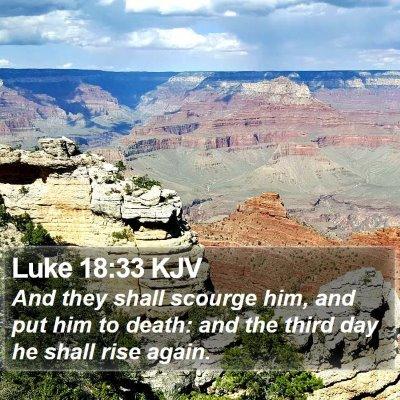 Luke 18:33 KJV Bible Verse Image