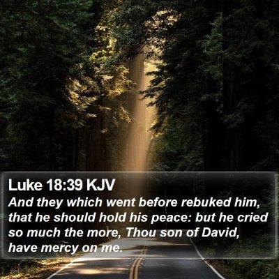 Luke 18:39 KJV Bible Verse Image