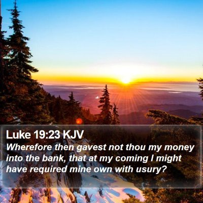 Luke 19:23 KJV Bible Verse Image