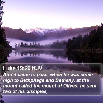 Luke 19:29 KJV Bible Verse Image