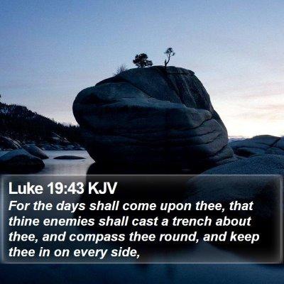 Luke 19:43 KJV Bible Verse Image