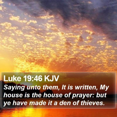 Luke 19:46 KJV Bible Verse Image