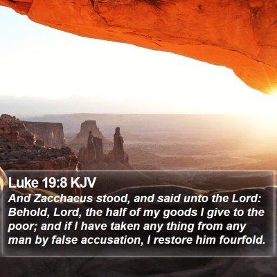 Luke 19:8 KJV Bible Verse Image