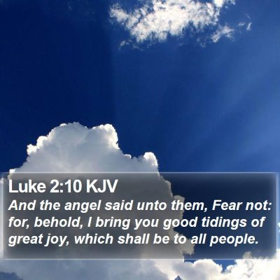 Luke 2:10 KJV Bible Verse Image