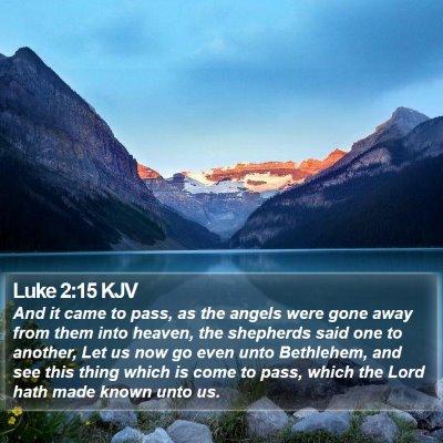 Luke 2:15 KJV Bible Verse Image