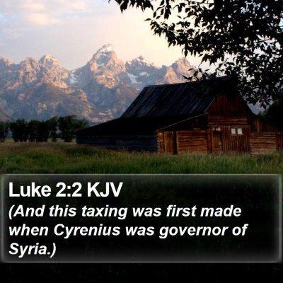 Luke 2:2 KJV Bible Verse Image