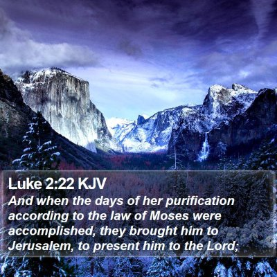 Luke 2:22 KJV Bible Verse Image
