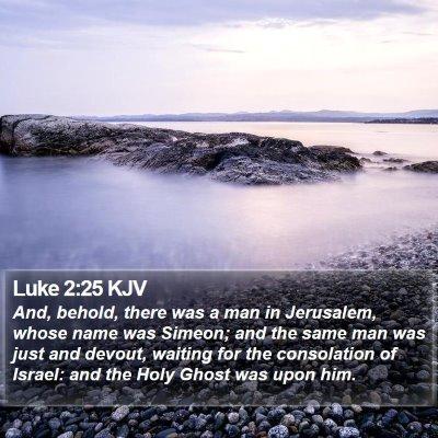 Luke 2:25 KJV Bible Verse Image