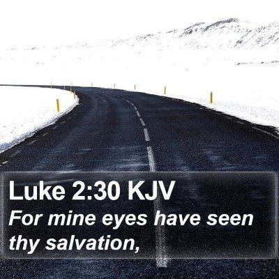 Luke 2:30 KJV Bible Verse Image