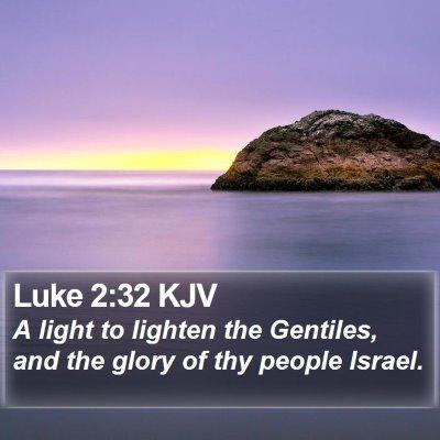 Luke 2:32 KJV Bible Verse Image