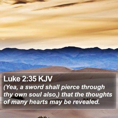 Luke 2:35 KJV Bible Verse Image