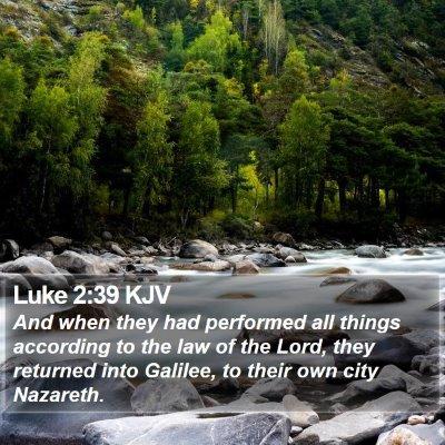 Luke 2:39 KJV Bible Verse Image
