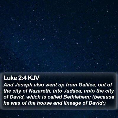 Luke 2:4 KJV Bible Verse Image