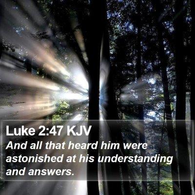 Luke 2:47 KJV Bible Verse Image