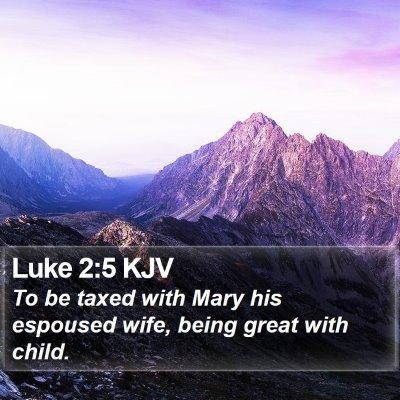 Luke 2:5 KJV Bible Verse Image