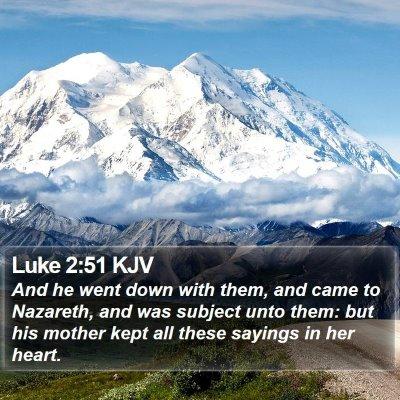 Luke 2:51 KJV Bible Verse Image