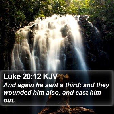 Luke 20:12 KJV Bible Verse Image