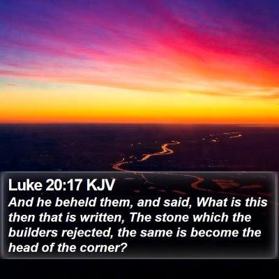 Luke 20:17 KJV Bible Verse Image