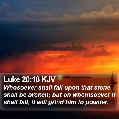 Luke 20:18 KJV Bible Verse Image