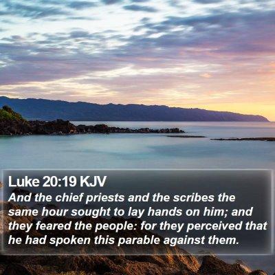 Luke 20:19 KJV Bible Verse Image