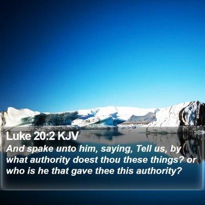Luke 20:2 KJV Bible Verse Image