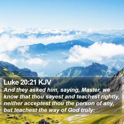 Luke 20:21 KJV Bible Verse Image