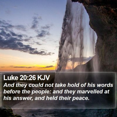 Luke 20:26 KJV Bible Verse Image