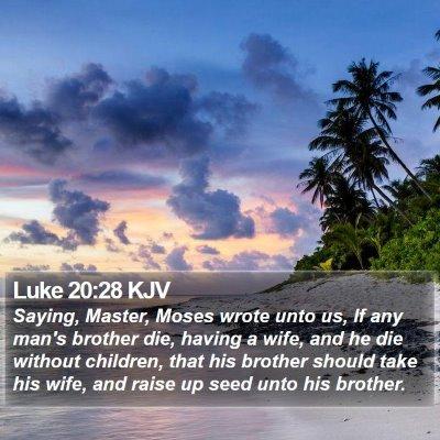 Luke 20:28 KJV Bible Verse Image