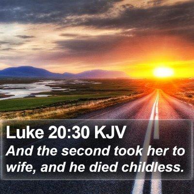Luke 20:30 KJV Bible Verse Image