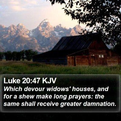 Luke 20:47 KJV Bible Verse Image