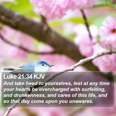 Luke 21:34 KJV Bible Verse Image