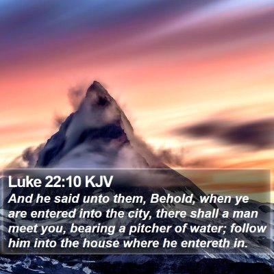 Luke 22:10 KJV Bible Verse Image