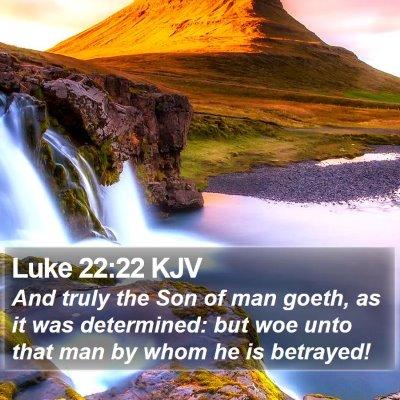 Luke 22:22 KJV Bible Verse Image