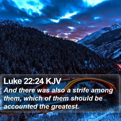 Luke 22:24 KJV Bible Verse Image