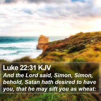 Luke 22:31 KJV Bible Verse Image