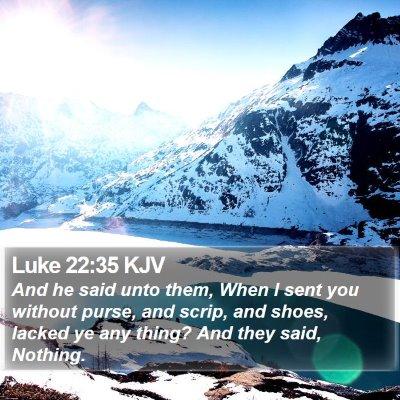 Luke 22:35 KJV Bible Verse Image