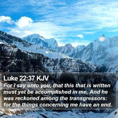 Luke 22:37 KJV Bible Verse Image