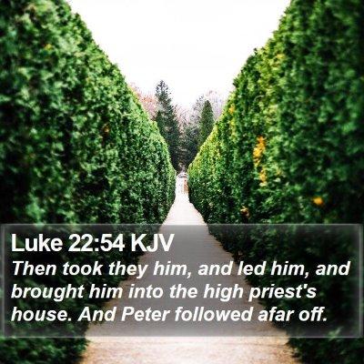 Luke 22:54 KJV Bible Verse Image