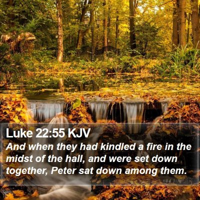 Luke 22:55 KJV Bible Verse Image