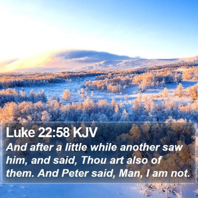 Luke 22:58 KJV Bible Verse Image