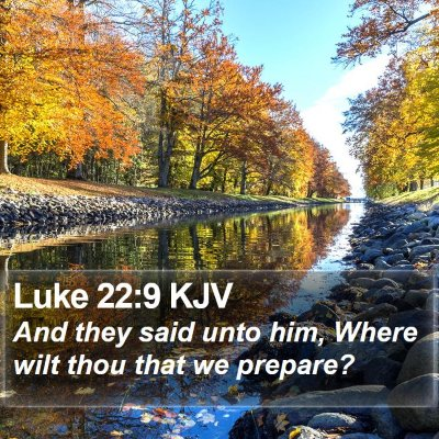 Luke 22:9 KJV Bible Verse Image