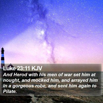 Luke 23:11 KJV Bible Verse Image
