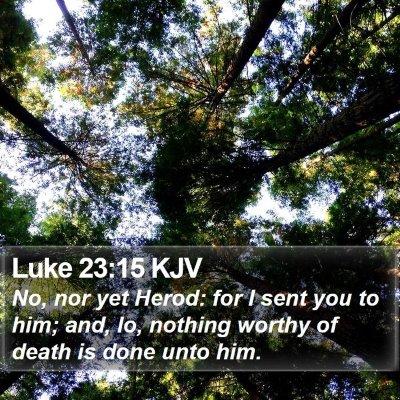 Luke 23:15 KJV Bible Verse Image